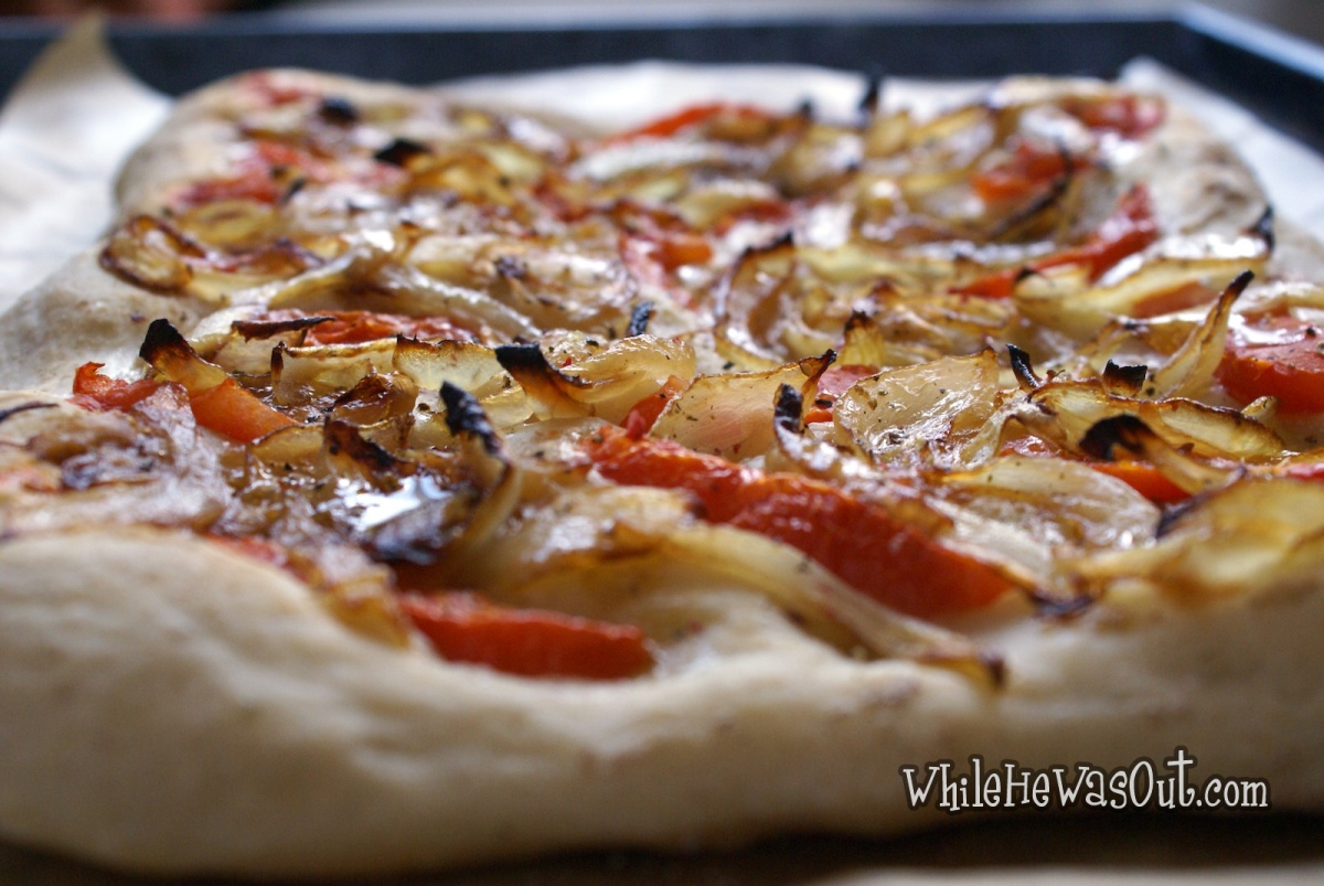 Artisan Bread Dough Focaccia With Lemony Onions And