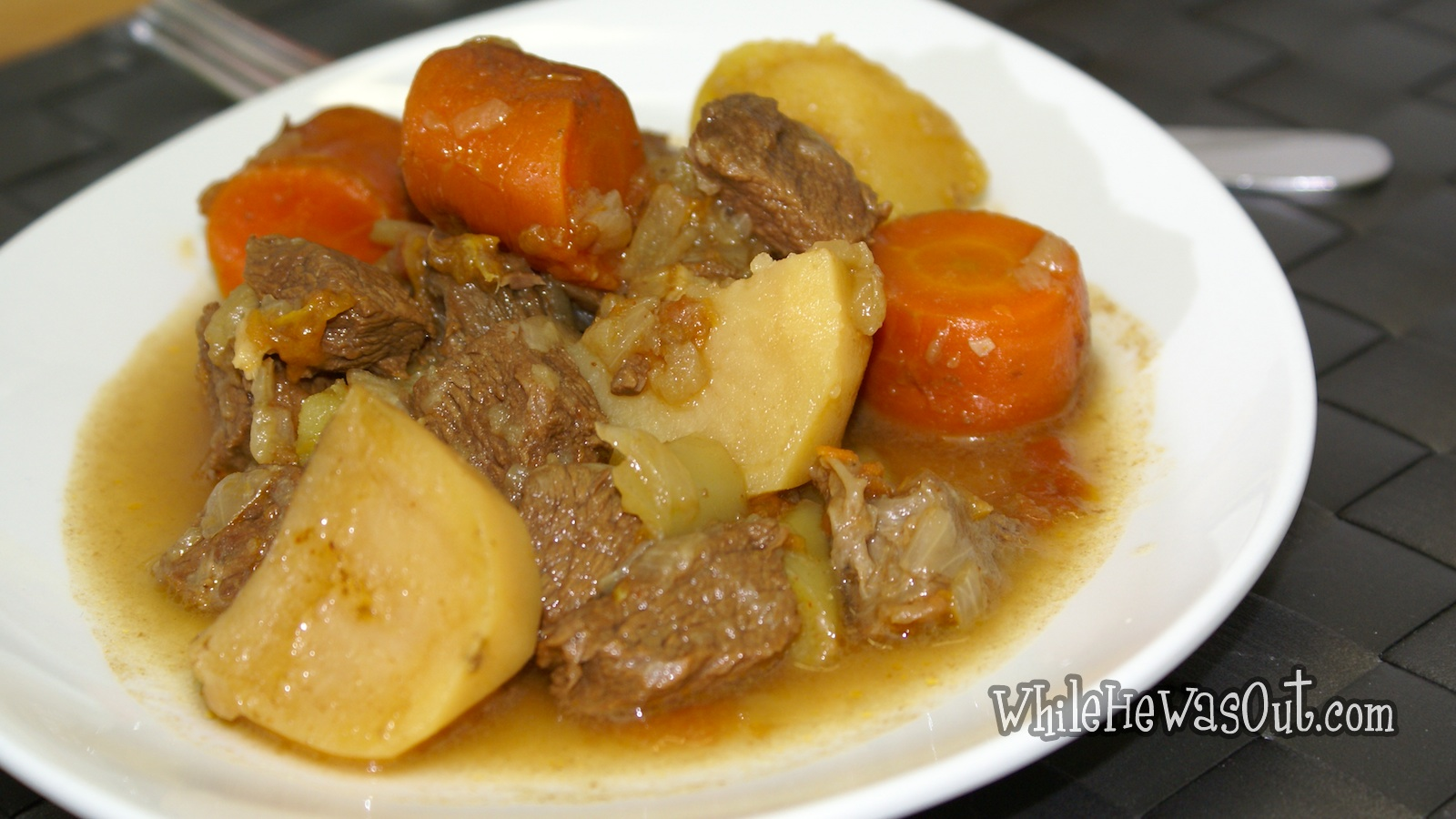 Beef Stew in Pressure Cooker | While He Was Out
