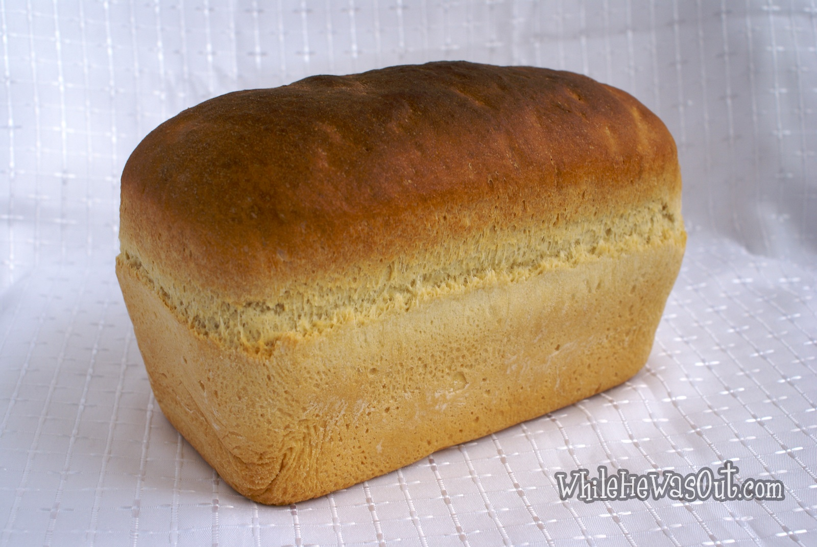 Simple and Amazing White Sandwich Bread | While He Was Out